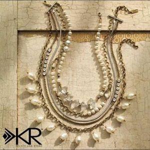 EUC Silpada Practical Pearl layered necklace